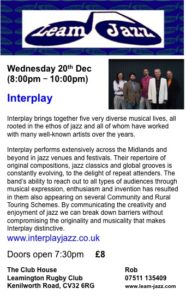 Interplay at Leam Jazz